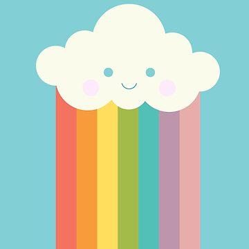 Nube de arco iris orgulloso de EuGeniaArt