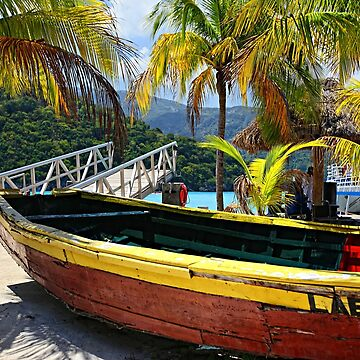 Old Wooden Boat, Labadee Haiti by Photograph2u