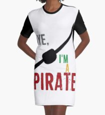 Ich bin ein Pirat T-Shirt Kleid