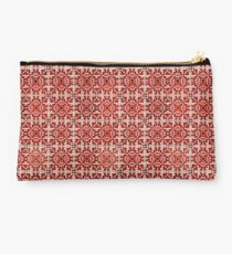 Red Portuguese Tiles Azulejos Studio Pouch
