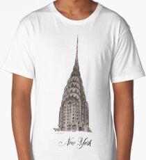 Chrysler Building - Edificio Chrysler Long T-Shirt