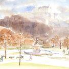 Edinburgh Castle -  water colour  by Boxzero