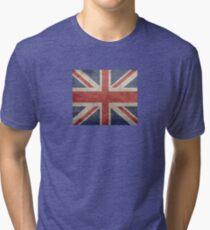 I Love Great Britain - Country Code GB T-Shirt & Sticker Tri-blend T-Shirt