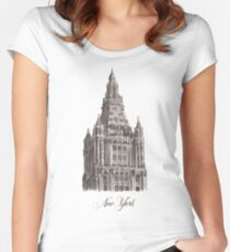 Woolworth Building - Edificio Woolworth Women's Fitted Scoop T-Shirt