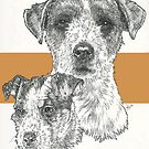 Jack Russell Terrier, rough coat, Father & Son by BarbBarcikKeith