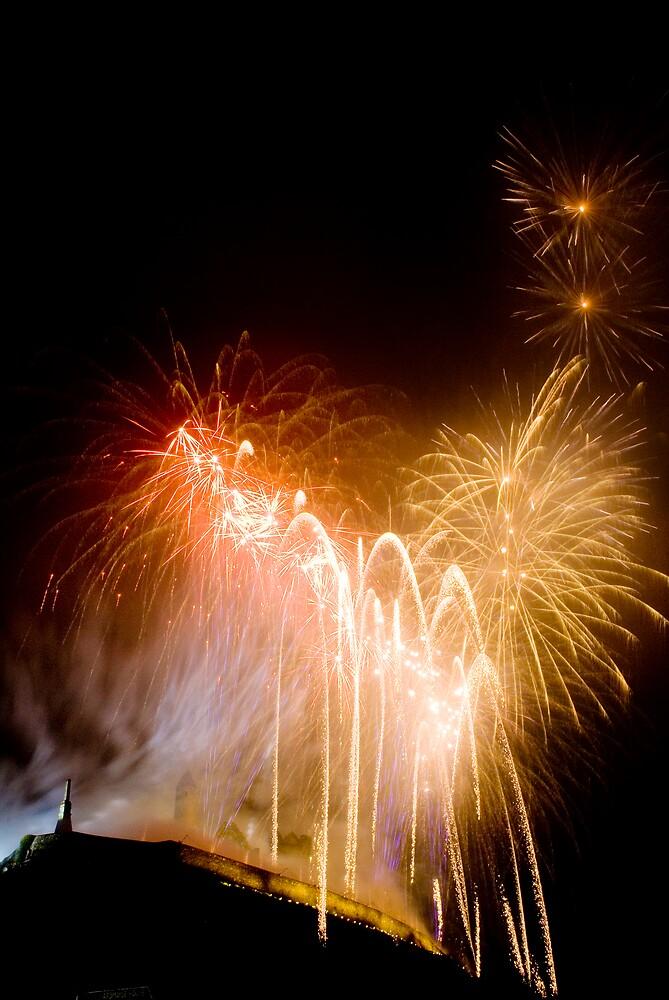 Fireworks over Cashel  by Gerard  Horan