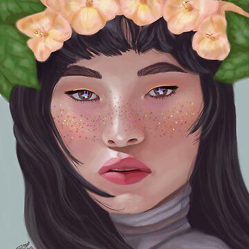 korean flower girl by archerxn
