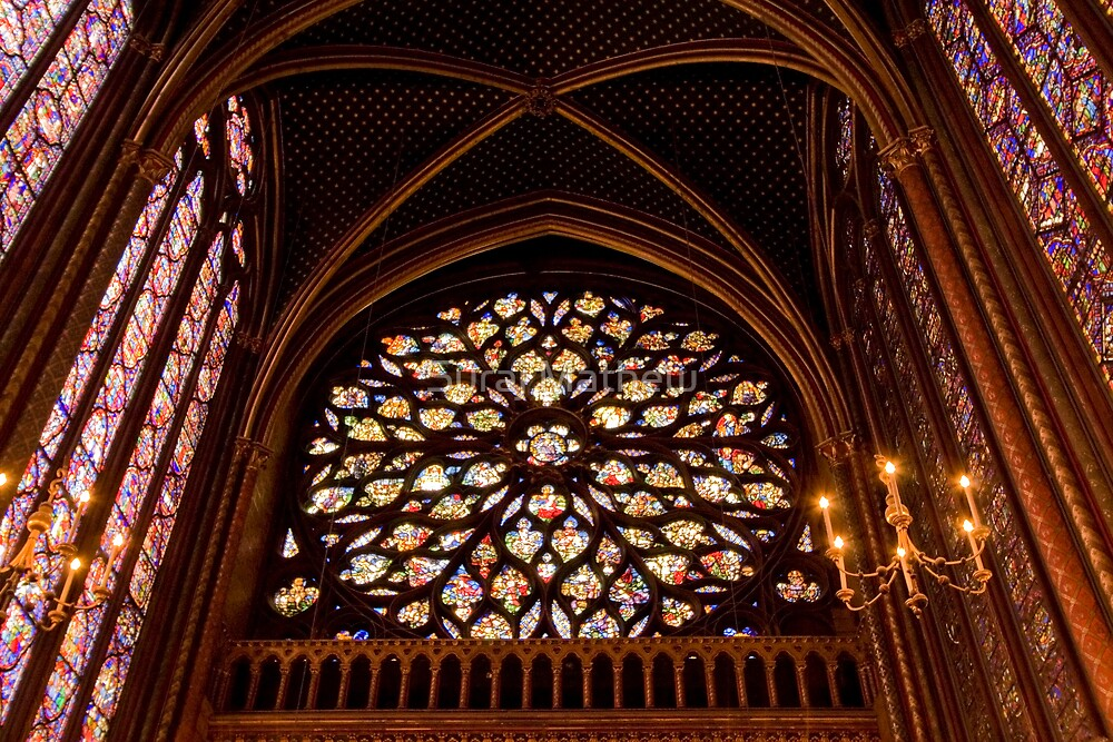 The Rose Window- St. Chappelle, Paris by Suraj Mathew