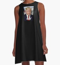 TRUMP, Donald Trump, 45th, President of the United States A-Line Dress