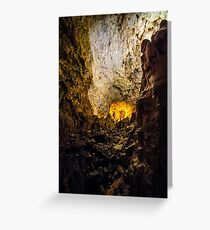 cave with colourful textured walls Greeting Card
