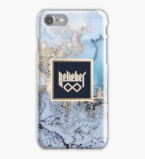 Belieber Forever - Blue & Gold Marble iPhone Case/Skin