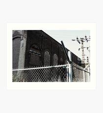 Bricks, Conductors, And chain link  Art Print