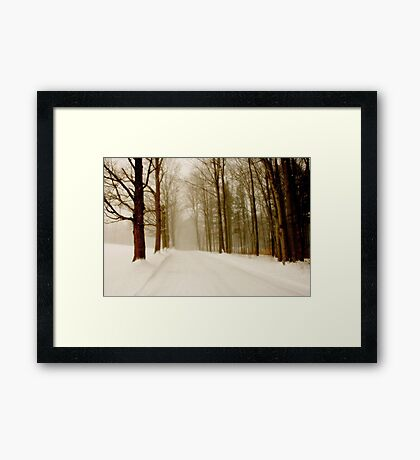 Drive Through The Storm Framed Print