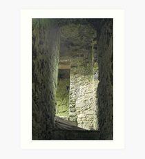 Lydford Castle ruin Art Print