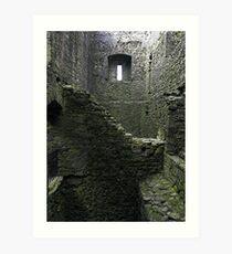 Inside Lydford Castle ruin Art Print