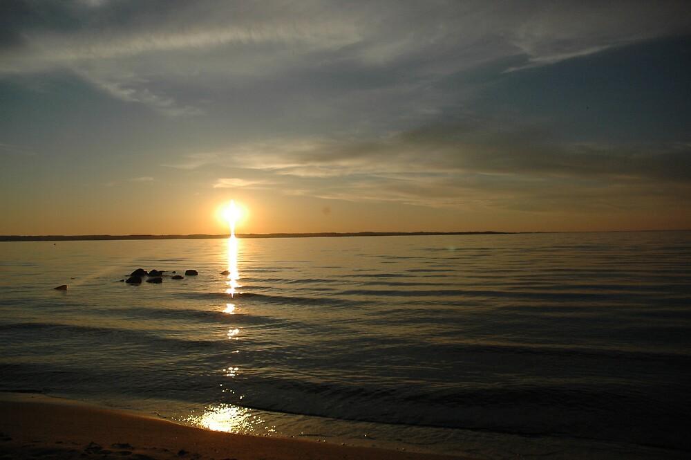 Lake Michigan sunset by Csquared