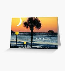 South Carolina edit 2 Greeting Card
