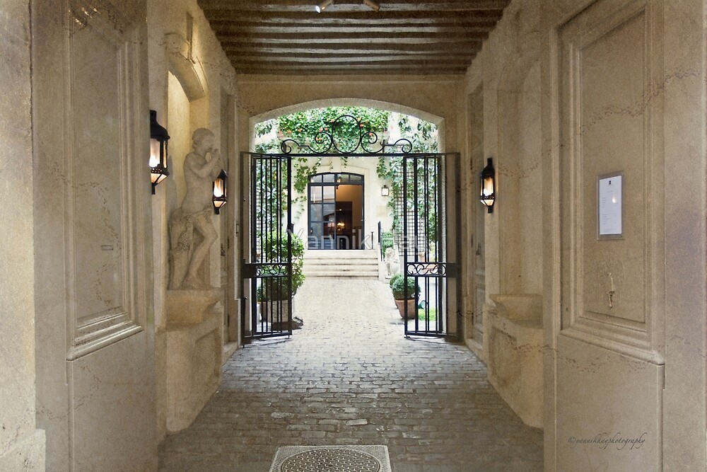 Flowered Courtyard - Relais Christine - Paris - France by Yannik Hay
