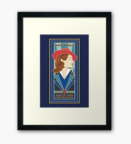 A Sense Of Worth  Framed Print