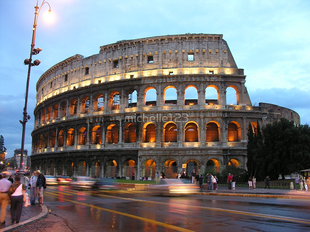 The Roman Coliseum at Sunset by michelle123