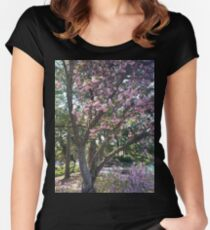the trees at the azalea festival Women's Fitted Scoop T-Shirt