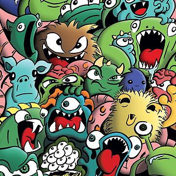 Cartoon Monsters by rideawave