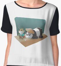 Cartoon Panda Women's Chiffon Top