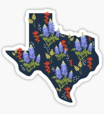 The Lone Star State of Wildflowers Sticker