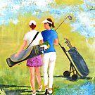 Golf buddies #1 by bettymmwong