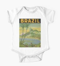 1940s Painting of Brazil One Piece - Short Sleeve