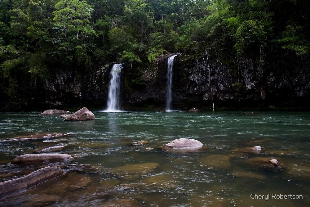 Rainforest Waterfalls by Cheryl Robertson