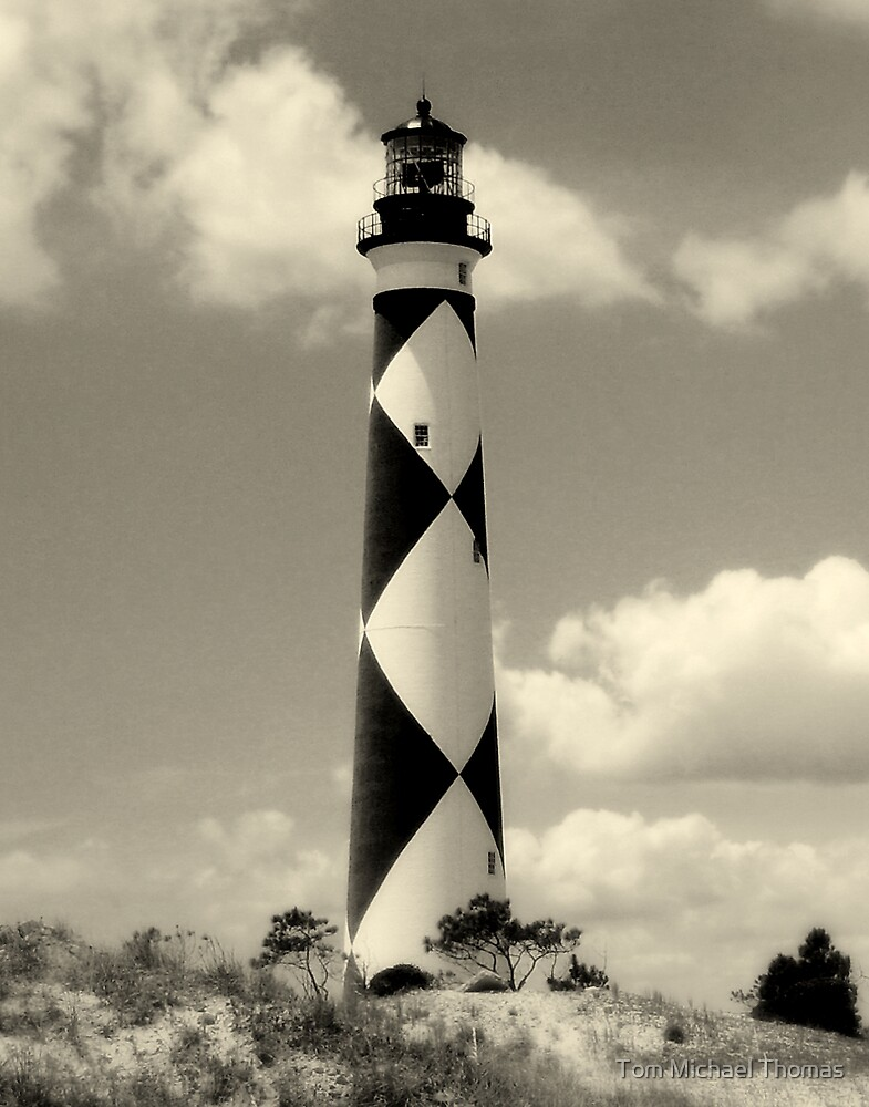 Cape Lookout Lighthouse by Tom Michael Thomas