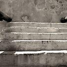 Steps at Tumacacori by AsEyeSee