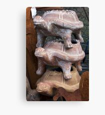 Turtle Stack Canvas Print