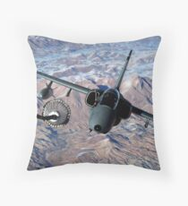 An Italian AMX approaches a KC-10A Extender to refuel over Afghanistan. Throw Pillow