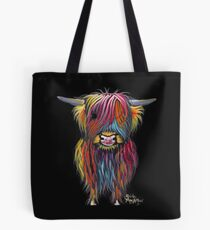 Scottish Hairy Highland Cow ' BRAVEHEART ' by Shirley MacArthur Tote Bag