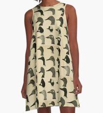 Vintage Ente Köpfe A-Linien Kleid