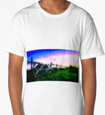 Fence at the Countryside (Westerwald) by Susanne Schwarz Long T-Shirt