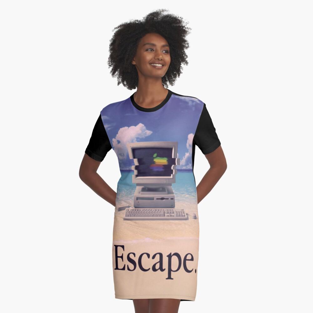 Vaporwave Macintosh Vestido camiseta