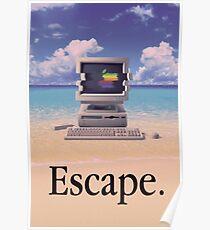 Póster Vaporwave Macintosh