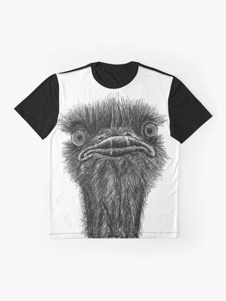 Alternative Ansicht von Strauß-Skizze-Skizze Grafik T-Shirt