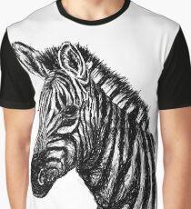 Zebra-Skizze Grafik T-Shirt
