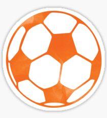 Orange soccer ball Sticker