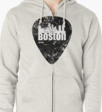 Boston Guitar Pick Zipped Hoodie