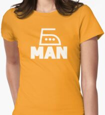 Smoothing Iron - Man Superhero Womens Fitted T-Shirt