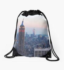 Lower Manhattan Sunset Drawstring Bag