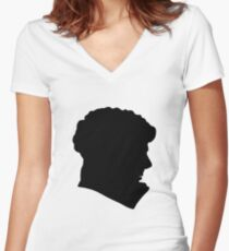 Sherlock Holmes (BBC) silhouette Women's Fitted V-Neck T-Shirt