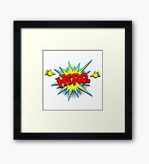 Funny Superhero comic word Hero Framed Print