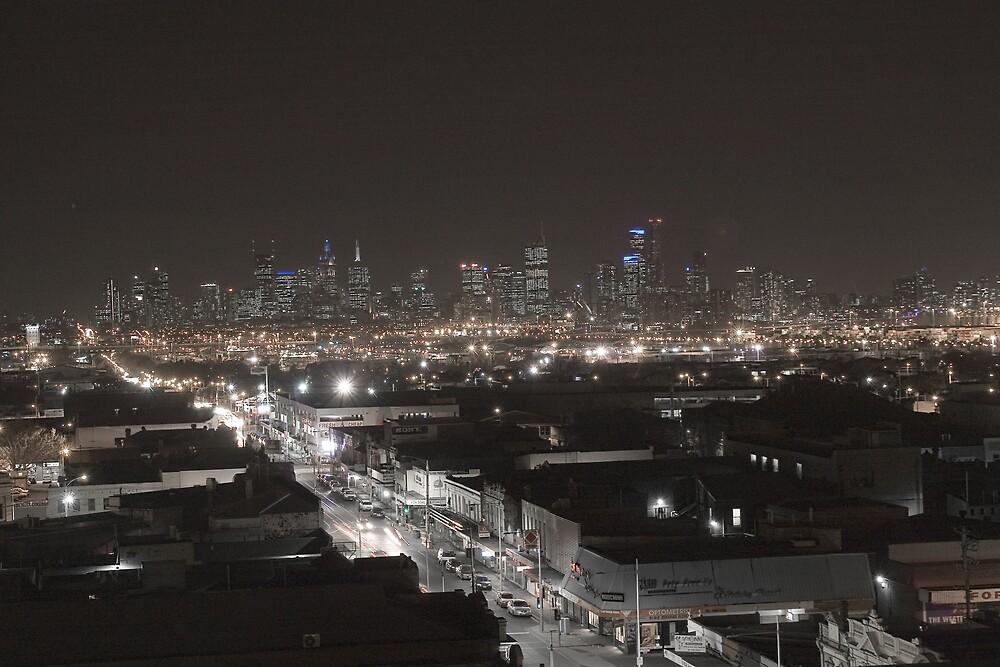 Melbourne Skyline by howieb101