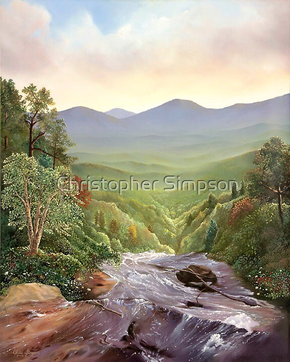 Tumbling Waters, Amicalola Falls by Christopher Simpson